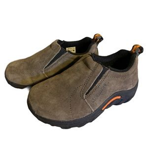 Merrell Taupe Leather Hiking Boots - Boy's Size 10